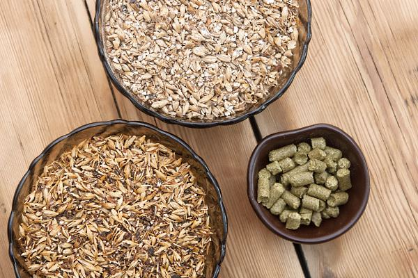 Beer ingredients, hops and malt